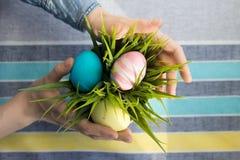 Fiore ed uova Fotografia Stock Libera da Diritti