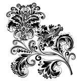 Fiore etnico in bianco e nero con il modello immagine stock libera da diritti