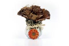 Fiore fatto dai fogli di autunno immagini stock libere da diritti