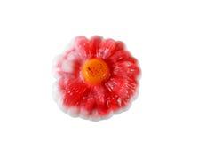 Fiore fatto a mano del sapone Isolato su priorità bassa bianca Fotografia Stock