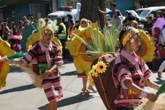 Fiore Feastivile 2015 di Baguio City dei ballerini della via di Colourfull Fotografia Stock Libera da Diritti