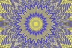 Fiore floreale al neon del modello olografico ceramic illustrazione vettoriale