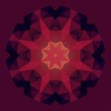 Fiore geometrico astratto di simmetria Fotografia Stock