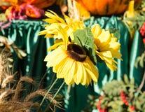 Fiore giallo artificiale del girasole nella natura Immagine Stock Libera da Diritti