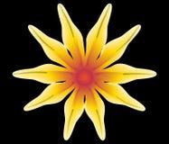 fiore giallo astratto Fotografia Stock