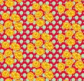 Fiore giallo su fondo d'annata Fotografia Stock