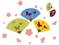 Fiore giapponese di ciliegia & del ventilatore Fotografia Stock