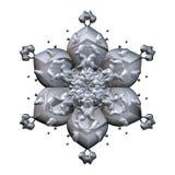 Fiore grigio scuro della fioritura 3d su fondo bianco royalty illustrazione gratis