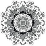 Fiore indiano del tatuaggio del hennè Immagini Stock Libere da Diritti