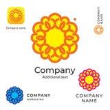 Fiore Logo Beauty Modern Identity Brand di contorno e modello stabilito di concetto di simbolo dell'icona di App Immagine Stock Libera da Diritti