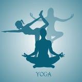 Fiore, Lotus, fiore, yoga, illustrazione di vettore, app, insegna Fotografia Stock Libera da Diritti