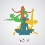 Fiore, Lotus, fiore, yoga, illustrazione di vettore, app, insegna Immagine Stock