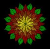 Fiore luminoso della mandala Fotografia Stock Libera da Diritti