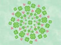 Fiore Mandala Canvas Painting Illustration floreale delle foglie del trifoglio dell'acquerello illustrazione vettoriale