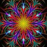 Fiore multicolore luminoso di frattale illustrazione di stock