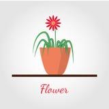 Fiore nell'illustrazione di vettore del vaso Illustrazione di Stock