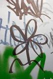 Fiore nero dei graffiti Immagini Stock