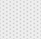 Fiore nero del profilo del modello sacro della geometria di vita illustrazione di stock
