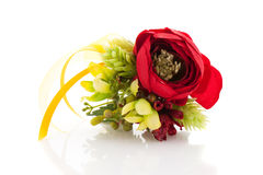 Fiore nuziale del polso fotografia stock