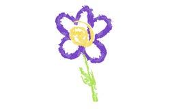Fiore porpora disegnato a mano Immagine Stock Libera da Diritti