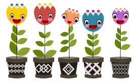 Fiore in POT illustrazione di stock