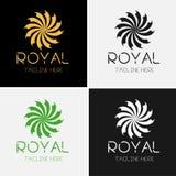 Fiore reale Logo Template Immagine Stock Libera da Diritti