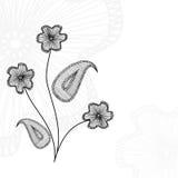 Fiore ricamato Fotografia Stock Libera da Diritti