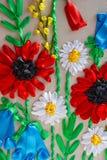 Fiore ricamato modello Immagini Stock