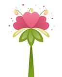 Fiore rosa del cuore Fotografia Stock Libera da Diritti