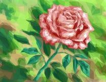 Fiore Rosa, poli basso Fotografie Stock