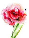 Fiore rosa variopinto Fotografia Stock Libera da Diritti