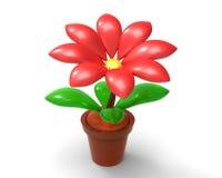 Fiore rosso 3D Fotografia Stock Libera da Diritti