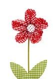 Fiore rosso del drapery Immagini Stock