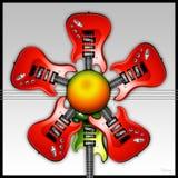 Fiore rosso della chitarra della roccia Fotografie Stock Libere da Diritti
