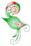 Fiore rosso in foglio verde Immagini Stock Libere da Diritti