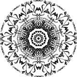 Fiore rotondo del cerchio di Black&White Immagine Stock Libera da Diritti