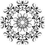 Fiore rotondo del cerchio di Black&White Fotografia Stock