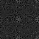 fiore rotondo di Dot Line Frame di arte di carta scura 3D royalty illustrazione gratis