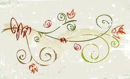 Fiore rustico di Grunge illustrazione di stock