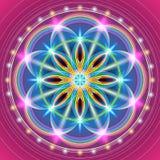 Fiore sacro della geometria royalty illustrazione gratis