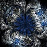 Fiore scuro di frattale, materiale illustrativo digitale Fotografia Stock