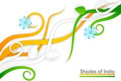 Fiore su tricolore indiano Immagine Stock Libera da Diritti