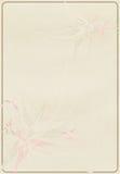 Fiore su un vecchio documento fotografie stock libere da diritti