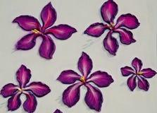 Fiore su una parete Fotografia Stock Libera da Diritti