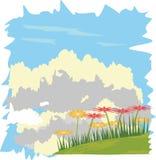 Fiore sul cielo Fotografia Stock