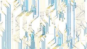 Fiore tecnologico di vettore sul fondo del circuito illustrazione di stock