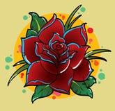 Fiore tradizionale del tatuaggio Fotografia Stock