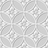 fiore trasversale rotondo della pagina di arte del Libro Bianco 3D Immagini Stock