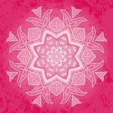 Fiore tribale sopra fondo rosa Immagini Stock Libere da Diritti