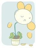 Fiore triste Immagine Stock